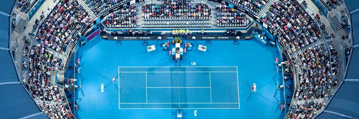 Sydney International Tennis Centre - Aerial of Apia Tennis Tournament -  Photo by Ethan Rohloff