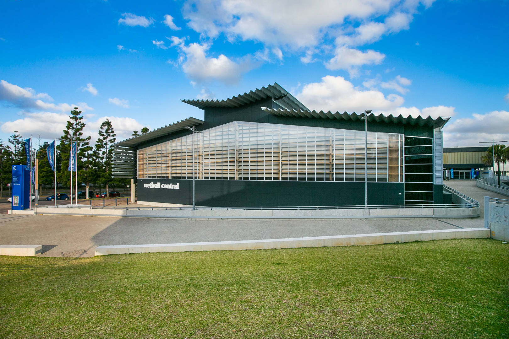 Sydney Olympic Park - Netball Central external - Photography by Narelle Spangher